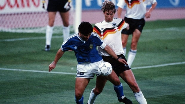 The 1990 World Cup final wouldn't have made for the best outdoor viewing party anyway. Then-West Germany edged Argentina 1-0 in a match remembered as the dullest and one of the roughest in the history of the championship game.
