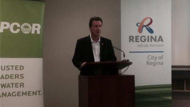 Regina Mayor Michael Fougere unveiled more details about the city's new waste water treatment facility.
