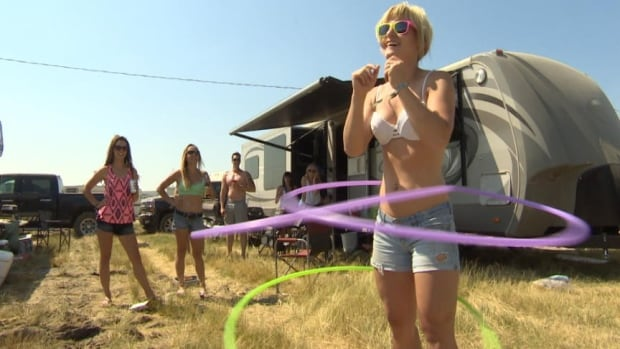 The RCMP is warning revellers at the Craven Country Thunder music festival not to dance naked.
