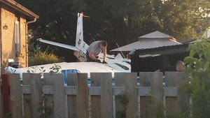 Plane crash Montreal backyard