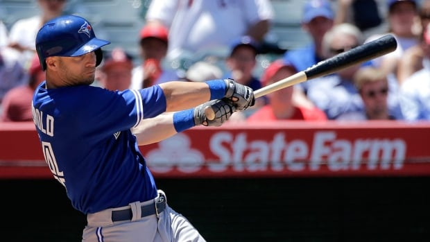 Outfielder Nolan Reimold was placed on the 15-day disabled list on Saturday with a left calf strain. The Blue Jays' newcomer is hitting .333 in four games with his new team.