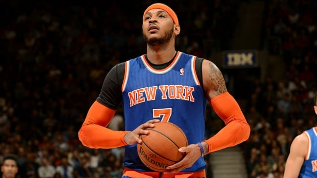 New York Knicks forward Carmelo Anthony led the NBA in scoring in 2012-13.