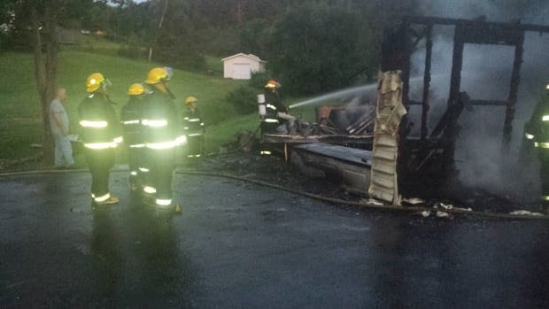 A fire completely destroyed a residential garage in Harbour Main early Sunday morning.