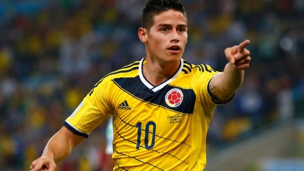 James Rodriguez of Colombia takes FIFA's Golden Boot award with six goals in five matches at the World Cup in Brazil.