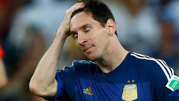 Argentina star Lionel Messi leaves the World Cup with a heavy heart in the knowledge his professional career resume may forever remain incomplete.