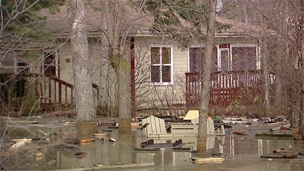 The RM of Victoria Beach said Monday it is preparing to declare a state of emergency due to concerns high lake levels on Lake Winnipeg are threatening communities such as Albert Beach, which was flooded after a 'weather bomb' hit the area in October 2010, when this picture was taken.