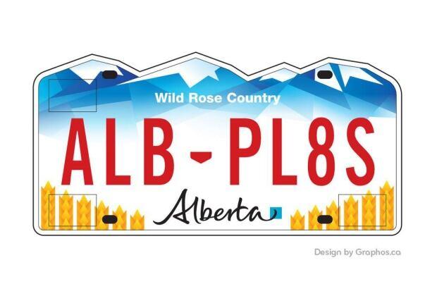 Proposed Alberta plate