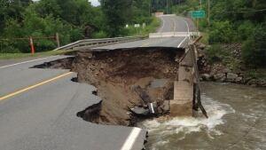 Highway 105 washout