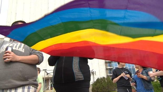 Pride flag in St. John's