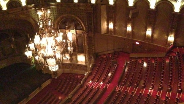 The view of the Orpheum through the dome