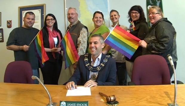 Jamie Snook proclamation for Pride Week
