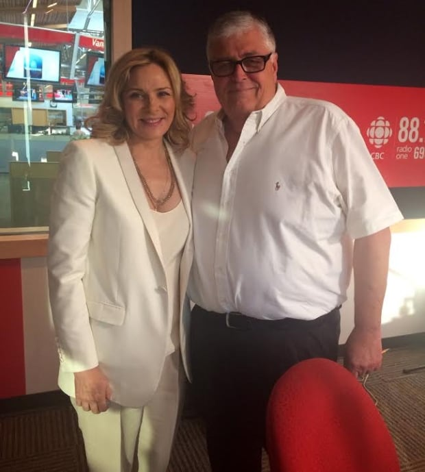 Kim Cattrall and Rick Cluff