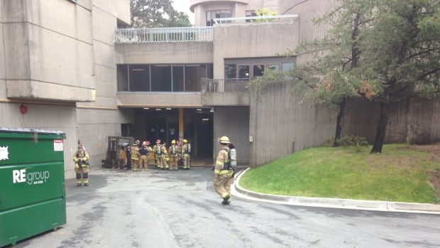 Firefighters were on the scene of Dalhousie University's Life Sciences Centre earlier today.