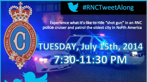 The Royal Newfoundland Constabulary will be hosting their second tweetalong Tuesday night, offering the public an insight via social media into a typical evening as an RNC officer in the capital city.