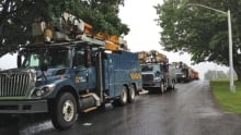 Power crews head to Hanwell Road to restore electricity