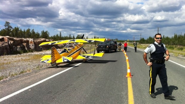 Stefan Trischuk had to resort to an emergency landing last Friday just outside of Yellowknife, NWT, after his engine cut out.