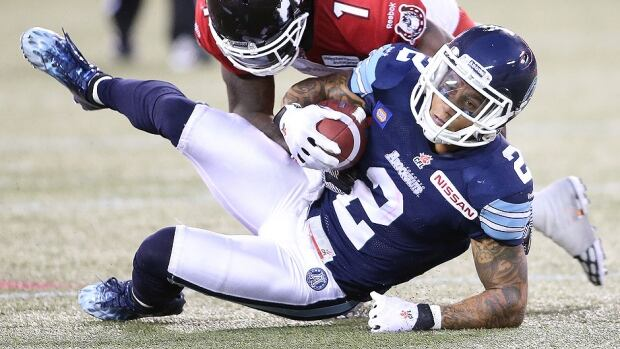 Argos star receiver/kick-returner Chad Owens will miss at least three weeks with a foot injury suffered in Saturday's 34-15 home loss to the Calgary Stampeders. Owens is the CFL's leading receiver and one of its most dangerous punt returners.