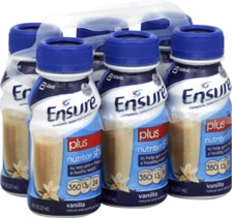 Ensure Vanilla Plus is a liquid nutrition supplement often used in nursing homes and for malnourished patients in hospital. (Abbott Nutrition)