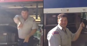 Canada Post employee confrontation
