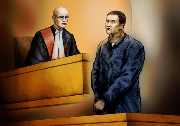 Courtroom sketch of Clare Spiers sentencing