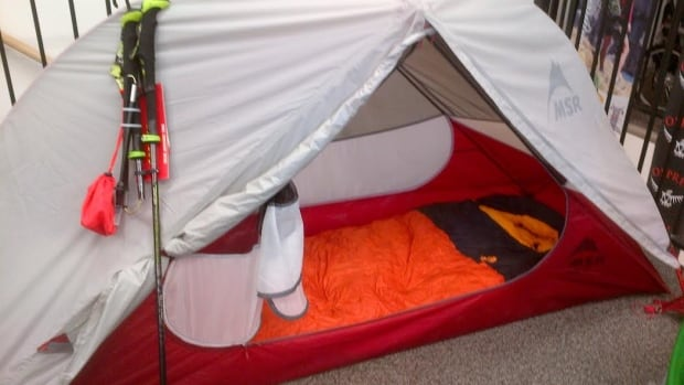 This tent at Fresh Air Experience in Regina weighs less than three pounds.