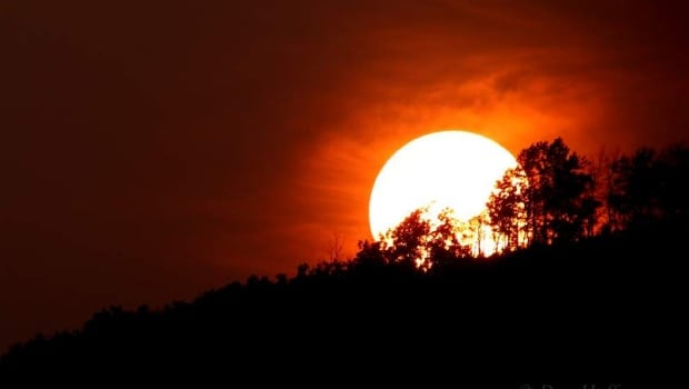 Smoky sunset in Peace River region
