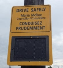 speed display signs ottawa councillor names