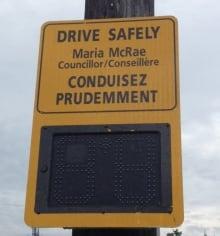 speed display signs ottawa councillor names
