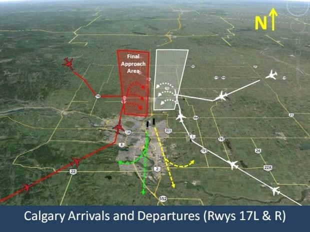 New runway air traffic maps