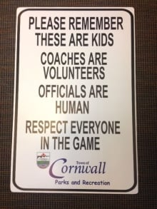 Cornwall sports sign