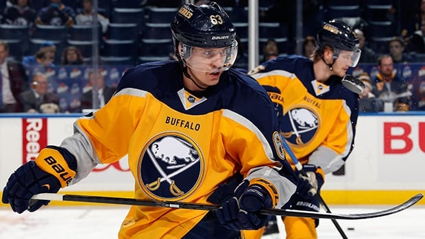 Tyler Ennis posted 21 goals and 22 assists for 43 points with 42 penalty minutes in 80 games for the Sabres this past season.