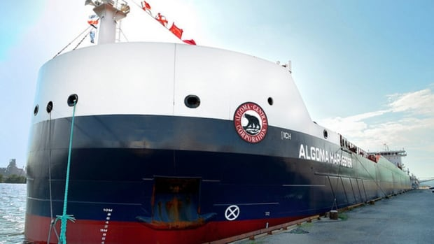 The Algoma Harvester is part of a new class of cargo ship designed to optimize fuel efficiency. It was christened in Hamilton Harbour Thursday.