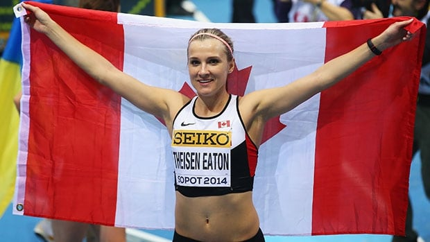 Heptathlon star Brianne Theisen-Eaton is one of Canada's gold-medal contenders at the Commonwealth Games.