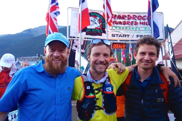 Adam Campbell at end of Hardrock 100 ultra-marathon