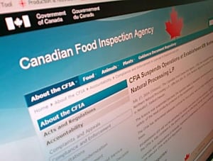 CFIA makes announcement concerning Neudorf, Sask. meat plant