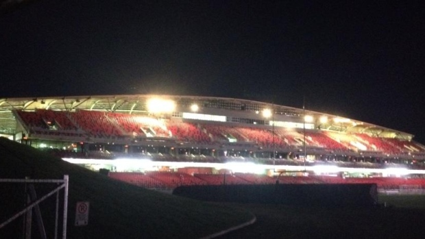 A view of TD Place - the home of the Ottawa Redblacks and Ottawa Fury FC, on the eve of the home opener for the Redblacks.