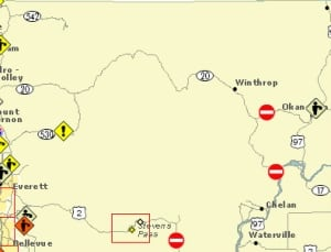 North-Central Washington highway and route closures