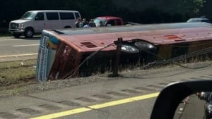 bus crash interstate 87