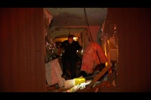 Van plows into Abbotsford apartment building