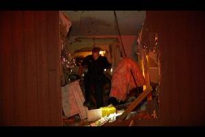 Van plows into Abbotsford apartment building