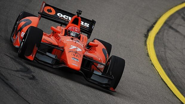 Simon Pagenaud covered the 11-turn, 2.81-kilometre street course at Exhibition Place in one minute 0.0084 seconds on Friday.