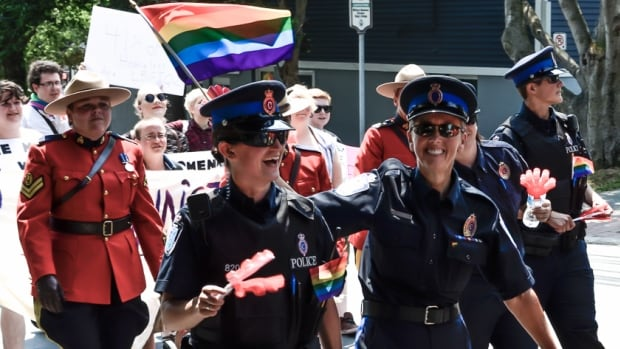 Members of the Royal Newfoundland Constabulary marched in the 2014 St. John's Pride Parade.