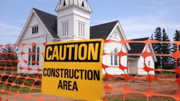 The Tryon United Baptist Church building will be moved in August so Route 1 can be straightened.