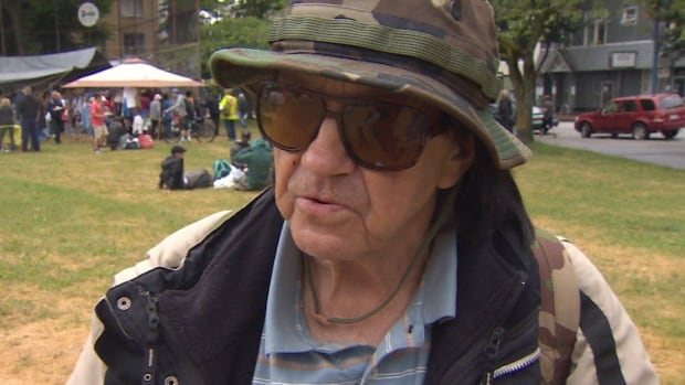 A 65-year-old homeless pensioner known as JT told CBC News he had a rude awakening Saturday morning when he was handed an eviction notice from the city, telling him he had to leave within 24 hours. Since then, the city itself has been handed an eviction notice by First Nation members.