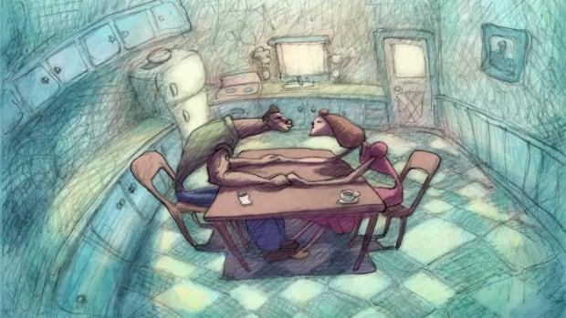 A scene from American animator Bill Plympton's 10th feature film, Cheatin'.