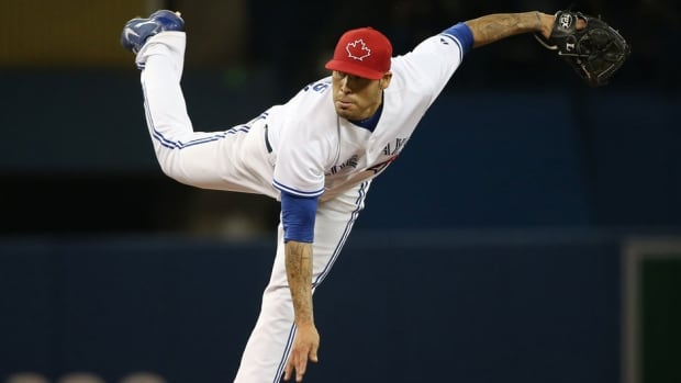 Sergio Santos has appeared in 24 games this season for the Blue Jays, posting a 0-2 record.