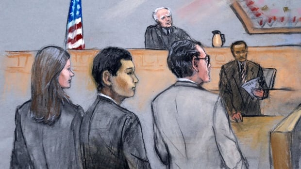 Prosecutors said Azamat Tazhayakov, foreground centre, agreed with a plan to remove Tsarnaev's backpack containing altered fireworks from his dorm room a few days after the 2013 bombings.