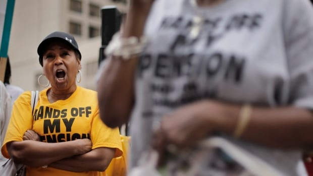 The plan to cut retiree pensions has been very controversial in Detroit, but on Monday night 76 per cent of pensioners voted in favour of the move.