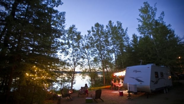 Campers enjoy one of Saskatchewan's many parks.