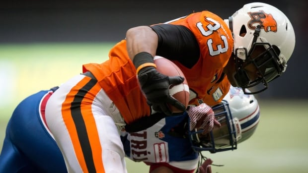 B.C. Lions running back Andrew Harris was named the CFL's top Canadian for the week.